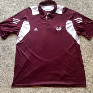 Mississippi State GAMEDAY  Adidas Polo
